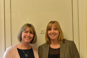 The Motspur Park branch managers, Mrs Sharon Vickery & Mrs Julie Peacock